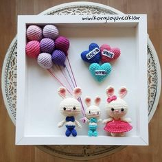 love this idea Crochet Baby Toys, Crochet Amigurumi, Easter Crochet, Crochet Art, Crochet Home, Crochet Gifts, Cute Crochet, Amigurumi Patterns, Crochet Dolls