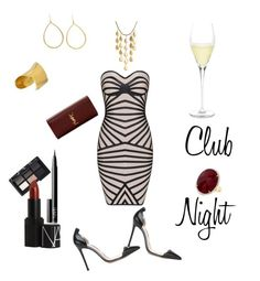 """Club Night."" by campanellinoo on Polyvore featuring Gianvito Rossi, Ippolita, Maiyet, John Hardy, Yves Saint Laurent, NARS Cosmetics and Schott Zwiesel"