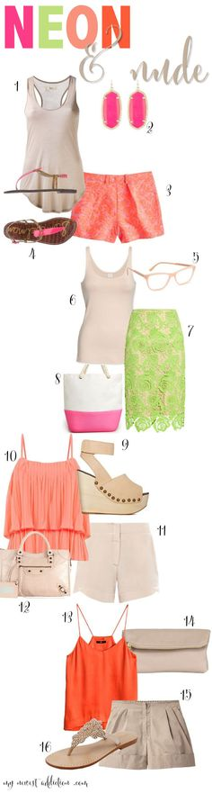 Summer Trends: NEON & NUDE - www.mynewestaddiction.com