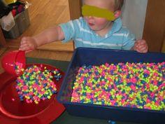 fish gravel in sensory table