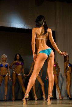 "Contestants pose during the ""Miss Bikini Fitness Russia, Vladivostok Bikini Fitness, Bikini Workout, Bikini Open, Thong Bikini, Toned Girls, Swimsuits, Bikinis, Swimwear, Nfl Photos"