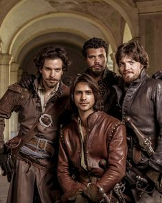Aww look Athos (Tom Burke) is smiling