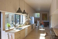 Image 24 of 36 from gallery of The house in the thicket / Kasper Bonna Lundgaard M. Courtesy of Kasper Bonna Lundgaard Kitchen Interior, Interior And Exterior, Interior Design, Swedish Design, Scandinavian Design, Norway House, Layout, Cabins And Cottages, Oslo