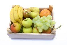 Miniatures Market Place html Crates and Baskets, Mixed Fruit Madam