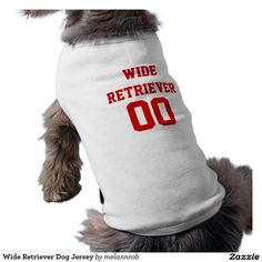Wide Retriever Dog Jersey Dog Tee Shirt