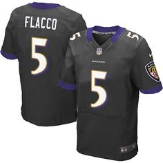 Nike Baltimore Ravens #5 Joe Flacco Elite Black Alternate NFL Jersey