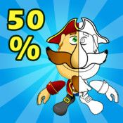 Percents. Smart Pirate: Math for Elementary School - Fractions as Percents, Equivalent, Percents Problems