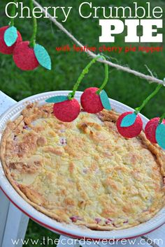 Cherry Crumble Pie w