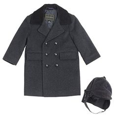 Rothschild Toddler Boys Wool Blend Long Peacoat W/ Hat -- Check out this great image @
