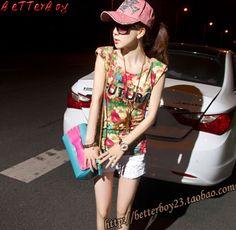 2013年韩版夏天爆款女装 半袖碎花上衣 FASHION 复古修身T恤-淘宝网 Summer Dresses, Vintage, Style, Fashion, Swag, Moda, Summer Sundresses, Fashion Styles, Vintage Comics