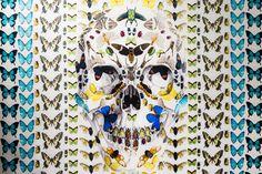 アレキサンダー・マックイーン×ダミアン・ハースト、スカル柄のコラボレーションスカーフを発売
