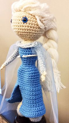 Snow Queen Elsa Disney's Frozen crochet amigurumi by Npantz22 ... | 417x236