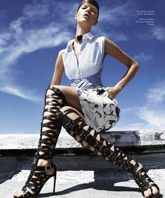 Anastasia Kolganova Gets High for Harpers Bazaar Latin America June 2013