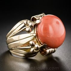 Mid-Century Coral Ring