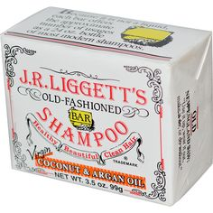 Liggett's Old Fashioned Bar Shampoo Counter Display Virgin Coconut and Argan Oil oz Case of 12 Natural Shampoo, Natural Oils, Natural Hair, Natural Beauty, Shampoo Bar, Shampoo And Conditioner, Argan Oil Benefits, Savon Soap, Soaps