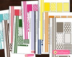Free Printable Planner Stickers with Polka Dots in 10 Colors
