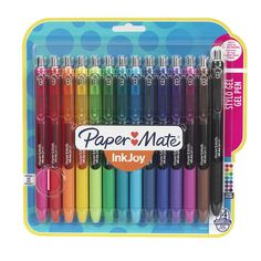 Gel pens write the best because of their vivid and bold lines, but the ink often smears, ruining the fun. Bullet Journal Ideas Pages, Bullet Journal Inspiration, School Notes, School Fun, Papermate Inkjoy Gel Pens, Best Ballpoint Pen, School Suplies, Stationary School, School Accessories