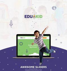 Edukid - Kindergarten & Education Theme - ModelTheme Kindergarten Themes, Singles Events, Event Page, Event Calendar, Quizzes, Dream Big, Wordpress Theme, Children, Kids