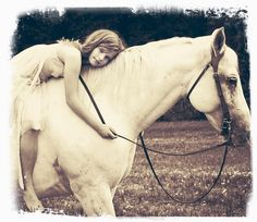 there is something magical about a girl and her horse.