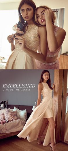 Prom dress trend for 2016: Embellishments. Make your special night one to remember in an embellished evening gown from Nordstrom. Beading, lace, crystals and jewels!