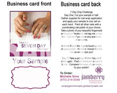 Nails fashionista jamberry sample card business card template you can use these to mail out jamberry nail sample wraps to your customers it is double sided and it is the size of a business card reheart Images