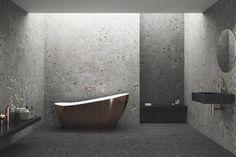 Grandes formatos - Tendencias - Hazlo con Cerámicos Terrazo, Bathtub, Bathroom, Trends, Standing Bath, Washroom, Bath Tub, Bathrooms, Bathtubs