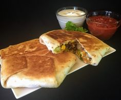 A meat-free version of the famous crunchwrap!