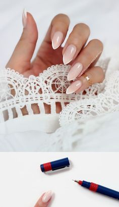 Nails French Manicure Wedding 58 Ideas For 2019 French Nail Designs, Acrylic Nail Designs, Acrylic Nails, Bridal Nails, Wedding Nails, Pretty Nails, Fun Nails, Manicure Y Pedicure, Manicure Ideas