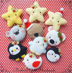 Barbara Handmade Christmas Felt M? Felt Christmas Decorations, Felt Christmas Ornaments, Noel Christmas, Handmade Christmas, Felt Crafts, Holiday Crafts, Fabric Crafts, Holiday Decor, Felt Patterns