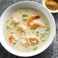 Fast Shrimp Bisque...2  cups water  2  teaspoons Old Bay Seasoning or other seafood seasoning  12  ounces fresh or frozen medium shrimp in shells, thawed  2  stalks celery, thinly sliced (1 cup)  1  12 ounce can evaporated milk  1  cup milk  2  tablespoons all-purpose flour  2  teaspoons anchovy paste or 1 or 2 anchovies, finely chopped  Seafood seasoning (optional)