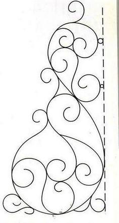scroll quilt pattern