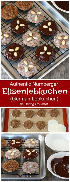 A thoroughly authentic and delicious German Lebkuchen recipe for one of Germany's most famous and beloved Christmas confections! German Christmas Cookies, German Cookies, Christmas Baking, Christmas Treats, Christmas Markets, Xmas Cookies, Holiday Baking, Holiday Treats, Christmas Recipes