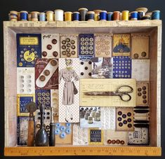 GALLERY Sewing Room Decor, Sewing Rooms, Sewing Spaces, Sewing Crafts, Sewing Projects, Craft Projects, Craft Ideas, Diy Crafts, Button Art