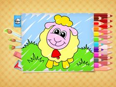 This coloring book provides beautiful pictures for toddlers and preschoolers to paint, draw and color. Educational App on iphone, ipad and android. Free Easter Coloring Pages, Easter Colouring, Coloring Books, Kids Fun, Games For Kids, Cool Kids, Easter Lamb, Color Games, Best Apps
