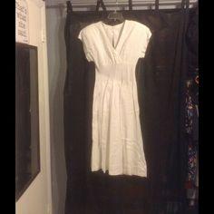 Vintage White Linen Dress