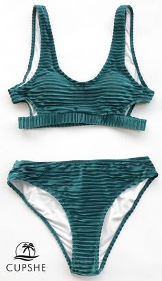 b0d24832e9 This velvet bikini has a tank bikini top that s cutout at the sides and  open at the back. The fabric creates a fun textured look. Shop now!