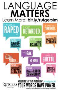 91b803abd63 Why Language Matters Campaign Raises Awareness at Rutgers