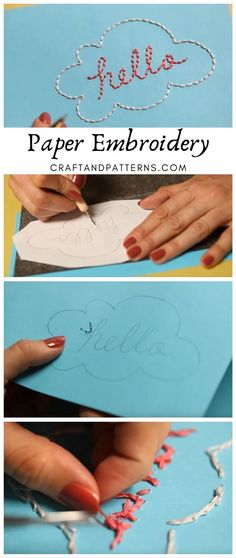 Latest Trend in Paper Embroidery - Craft & Patterns Handmade Birthday Cards, Greeting Cards Handmade, Paper Embroidery Tutorial, Stitching On Paper, Paper Smooches, Paper Cards, Diy Paper, Heartfelt Creations, Card Kit