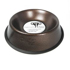 Platinum Pets Non-tip Stainless Steel Dog Bowl, 6 oz, Copper -- To view further for this item, visit the image link. (This is an Amazon affiliate link)