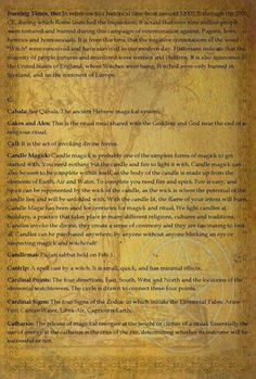 Wiccan dictionary