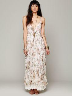 Mes Demoiselles Paris Heidi Printed Floral Dress at Free People - Ivory Print