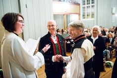 History is made: First same-sex church wedding performed in Norway | In the very second that the clock struck midnight and the Norwegian Evangelical Lutheran Church's new liturgy allowing gay couples to marry in church weddings came into force, Kjell Frølich Benjaminsen and Erik Skjelnæs tied the knot in Eidskog Church.