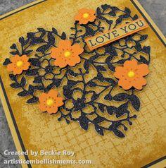 Artistic Embellishments: Sneak Peek: Bloomin' Heart meets Timeless Texture