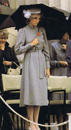 1983-04-25 Diana attends the Anzac Day Remembrance Ceremony at the War Memorial in Auckland, to commemorate the landing of the Australian and New Zealand Army Corps (ANZAC) at Gallipoli, Turkey, during World War I in 1915