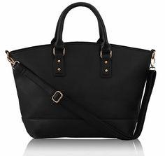 Dámska kabelka kožená Tote veľká, čierna