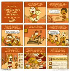 #50 - Pessoas que eu não entendo (parte 2) | Quadrinhos Ácidos