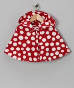 Red Polka Dot Poncho