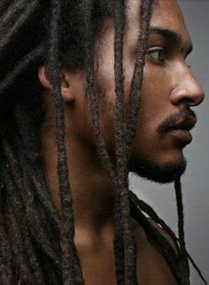 """Dreadlocks also known as locs or dreads are a signature hairstyle of the black culture. They are formed by mattingRead More Dreadlock hairstyles for men"""" Black Is Beautiful, Gorgeous Men, Men In Black, Black Guys, Black People, Handsome Black Men, Long Black, Natural Hair Styles, Long Hair Styles"""