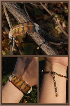 Young Red-Tailed Hawk Feather - Leather Bracelet by *windfalcon on deviantART