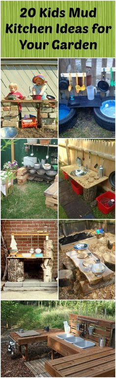 Top 20 of Mud Kitchen Ideas for Kids via @1001Gardens